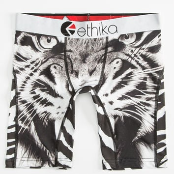 Ethika Tiger Face Staple Boys Underwear Black/White  In Sizes