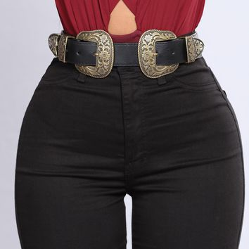 Miss Your Touch Belt - Black/Gold