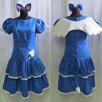 Can be tailored Anime FAIRY TAIL Cosplay Man Woman Halloween Cos Happy Personification Cosplay Costume S-3XL