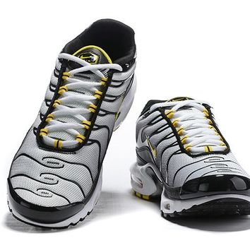 Nike Air Max Plus QS black white yellow 40-46
