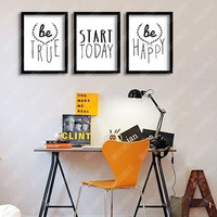 Inspirational Quotes  poster wall pictures living room decor Frame not included