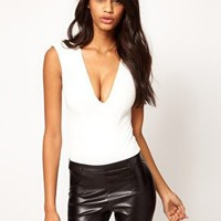 Oh My Love Deep V Body with Shoulder Pads at asos.com