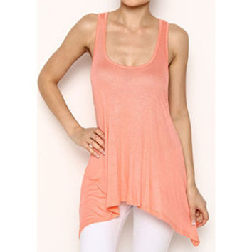 In Style 'Must Have' Peach Knit Tank