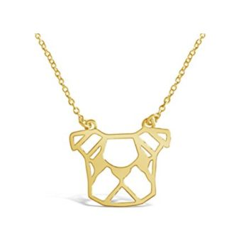French Bulldog Origami Necklace