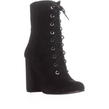 Vince Camuto Teisha Lace Up Ankle Booties, Black, 10 US / 40 EU