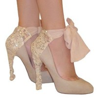 Lace and Sequin Heel Condom