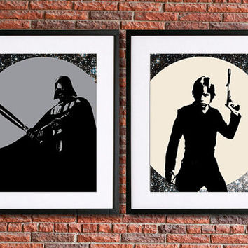Darth Vader Poster | Luke Skywalker Poster | Star Wars Poster | Set of 2 - 8x10 Instant Download Printable | Science Fiction | Sci Fi