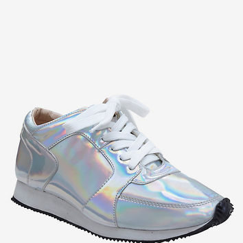 Silver Holographic Sneakers