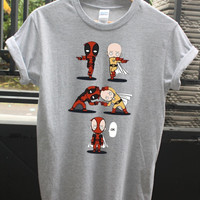 Saitama fushion with deadpool = deadtama shirt, anime shirt, Parody shirt, One punch man shirt, justice shirt, super hero shirt, funny shirt