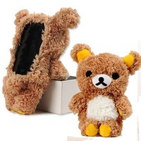 EveryOne-Buy Stylish Cute 3D Teddy Bear Doll Toy Plush Case Cover For Apple iPod Touch 4 iPod Touch 5 iPhone 5S/5/5C/4S/4 Brown (Brown for iPod touch 4)