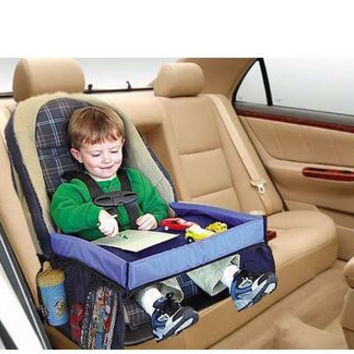 Children Toddlers Car Safety Belt Travel Play Tray waterproof Table Baby Car Seat Cover Harness Buggy Pushchair Snack Laptray
