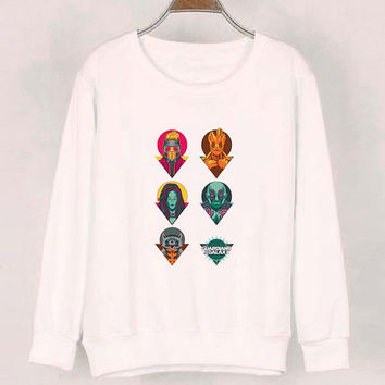 guardian of the galaxy sweater White Sweatshirt Crewneck Men or Women for Unisex Size with variant colour