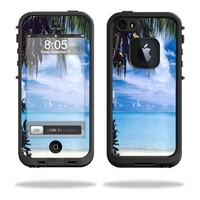Mightyskins Protective Vinyl Skin Decal Cover for LifeProof iPhone 5/5s/SE Case fre Case wrap sticker skins Beach Bum