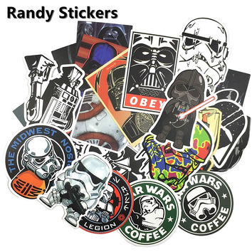 25 Pcs Skateboard Laptop Luggage Fridge Phone Styling home Toy Sticker for Star Wars waterpoof fuel cap creative sticker W028