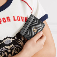 Gucci - GG Marmont quilted leather cardholder
