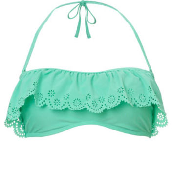 Laser Cut Out Frill Bandeau | Green | Accessorize