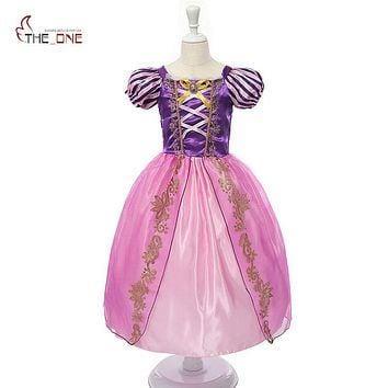 Girls Princess Summer Dresses (Rapunzel, Cinderella, Sleeping Beauty, Sofia)