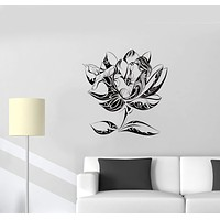 Wall Decal Naked Girl Nature Sexy Flower Plants Ornament Vinyl Sticker Unique Gift (ed745)