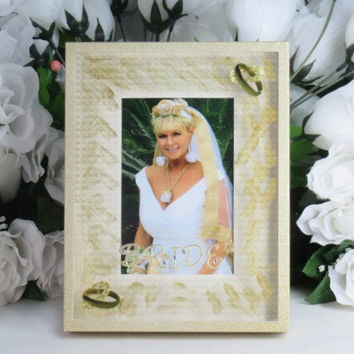 Bride Gifts - Wedding Gifts - Wedding Frame - 4x6 Frame - Newlywed Gifts - New Bride Gifts - Unique Frame - Bridal Shower Gifts -