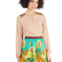 ModCloth Quirky Short Length A-line What A Squirrel Wants Skirt