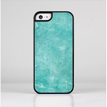 The Scratched Turquoise Surface Skin-Sert Case for the Apple iPhone 5c