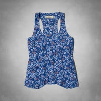 supersoft floral tank
