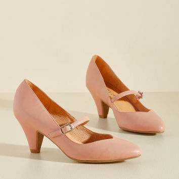 Reserved for Rollicking Heel in Rose | Mod Retro Vintage Heels | ModCloth.com