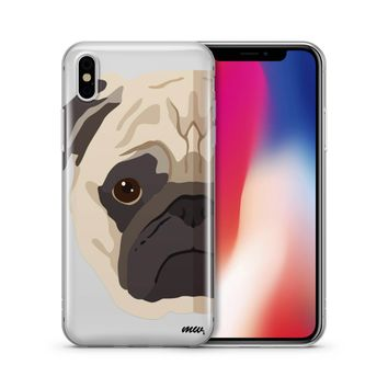The Pug Case - Clear TPU Case Cover Phone Case