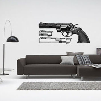 Colt Wall Sticker Decal Hand Gun Firearm Colt 1911 Gun Wall Art Decor 3810