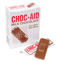Chocolate First Aid Bandages: 7-Piece Box