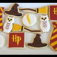1 DZ Harry Potter themed Sugar Cookies
