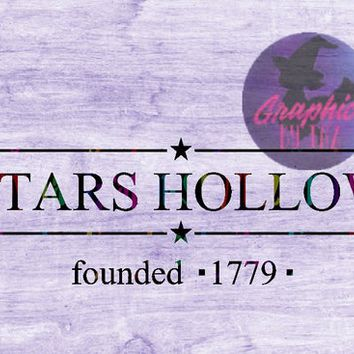 Stars Hollow Founded 1779 SVG cut file for Cricut and Silhouette Cutting machines