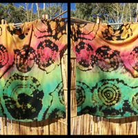 Tye Dye Shirt - Black Reverse Unisex Irie Island Stylee Mon XL & 2X - Wearable Art - Hippy Retro Rasta Jamaica Me Happy Chakra Color Therapy