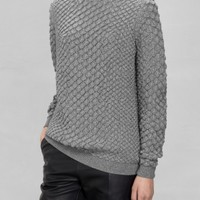 & Other Stories | Merino Wool Sweater | Grey