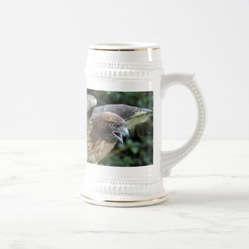 Red-Tailed Hawk Photo Beer Stein