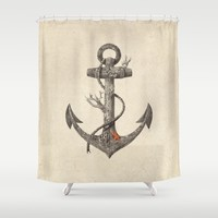 Lost at Sea  Shower Curtain by Terry Fan