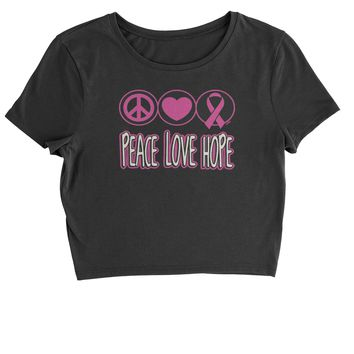 Peace Love Hope  Cropped T-Shirt