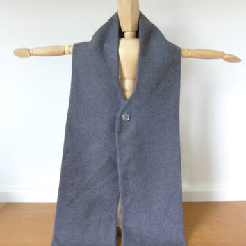Gray wool tucker scarf, Continental Scarfler by Beau Brummel