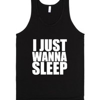 Wanna Sleep-Unisex Black Tank