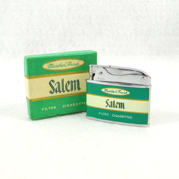 Vintage Salem Cigarette Lighter by Zenith with Original Box from 1960s. Never Used