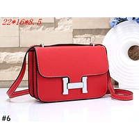 Hermes Tide brand lychee pattern female personality wild H letter buckle shoulder bag #6