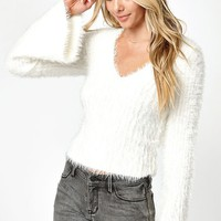 LA Hearts Fuzzy Pullover Sweater at PacSun.com