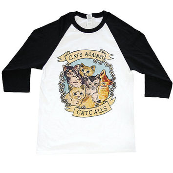 Cats Against Catcalls -- Unisex Long-Sleeve
