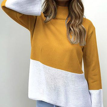 The Sweet Side of Life Color Block Sweater