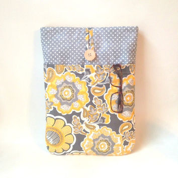 Laptop Case 10, 11, 12, 13, 14, 15, 16 inch Custom Padded Sleeve Cover Macbook Lenovo Sony Vaio Dell Acer HP Asus, Sony, Bag Yellow Flower
