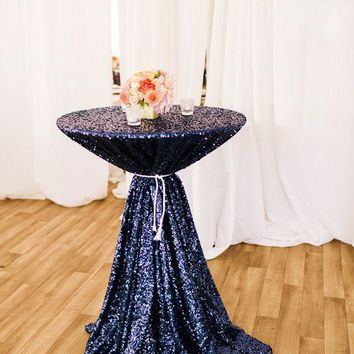 Navy Sequin Linens