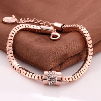 Fashion Bracelet 18K Rose Gold Plated Bracelet Super Cute