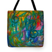 Treble Play Tote Bag