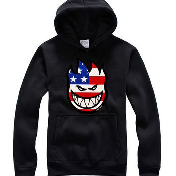 2016 Men Hoodies USA  SPITFIRE Skateboard Brand Printed Skate Sweatshirts 4 Colors Available