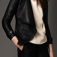 Strip-Stitched Lambskin Jacket